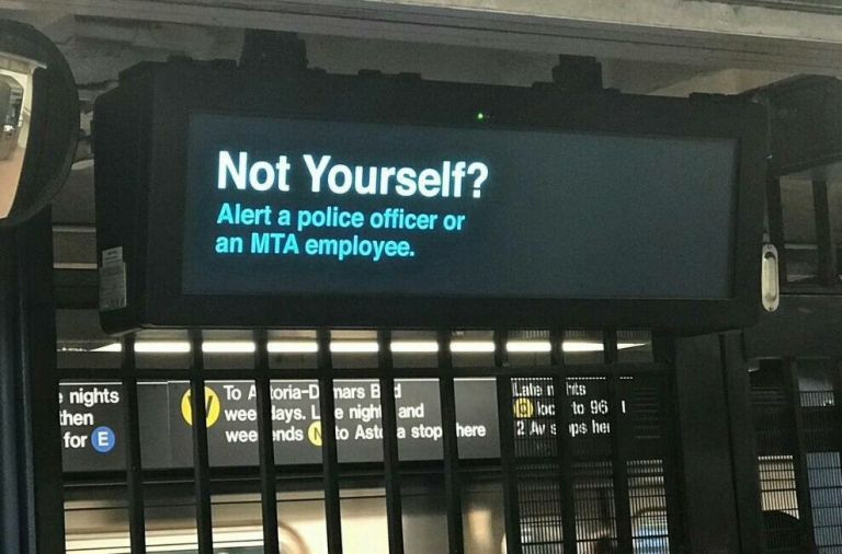 Not yourself? Alert a police officer or an MTA employee.