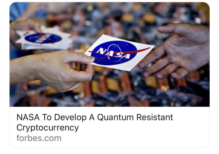 NASA To Develop a Quantum Resistant Cryptocurrency