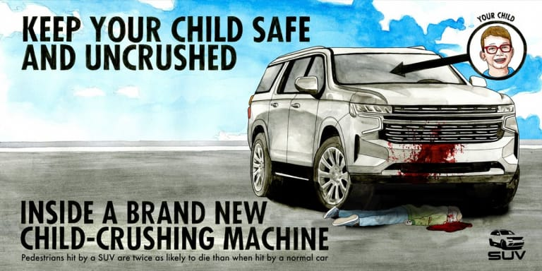 Keep your child safe and uncrushed inside a brand new child-crushing machine