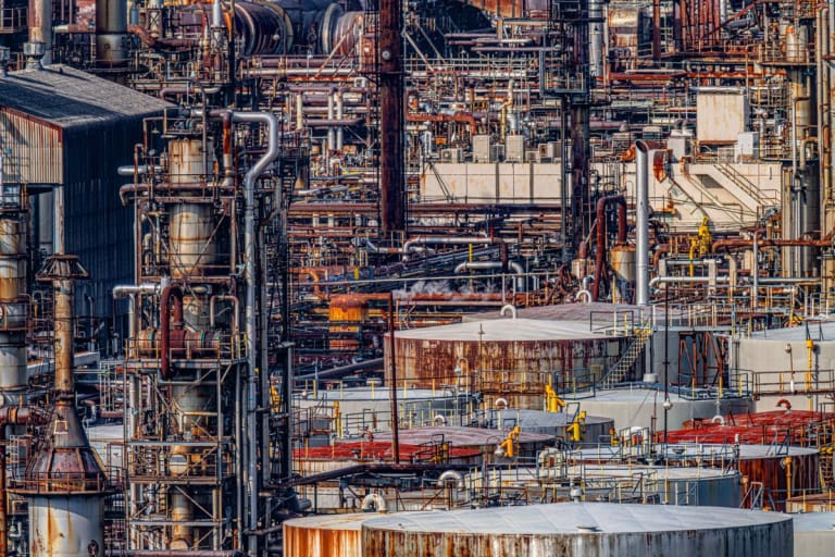 """""""Oil factory what a compactness"""""""